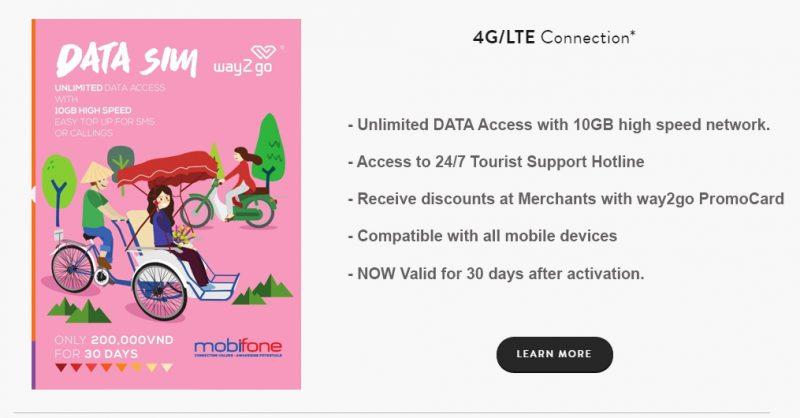 Sim du lịch Mobifone
